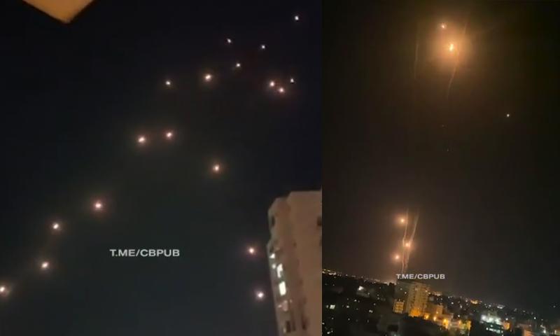 Завораживающая мощь: «Железный купол» продолжает отбивать атаку ракет над Израилем