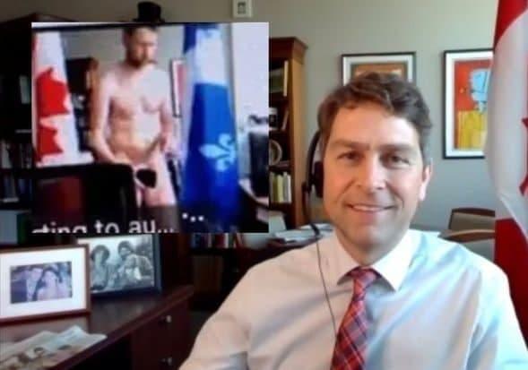 Канадский депутат опять вышел голый на онлайн-встрече парламента и помочился в чашку