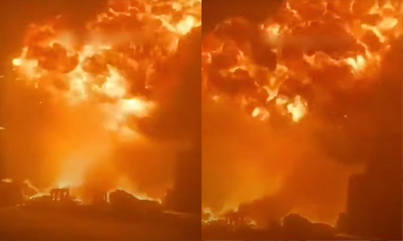Ужасающие кадры из Израиля: ХАМАС превратил порт в Ашдоде в столп огня