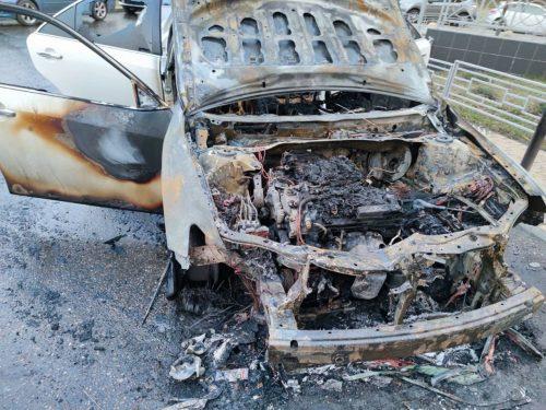 Всё, что осталось от автомобиля следователя Неснова. Машина была оформлена на мать сотрудника правоохранительных органов
