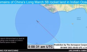 Обломки потерявшейся в космосе китайской ракеты упали на Землю
