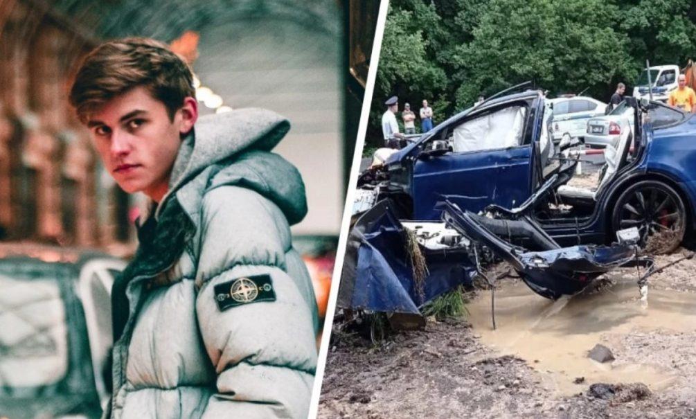 «Будто с вертолета скинули»: сын главы ярославского правительства разнес в клочья Tesla за 8 млн