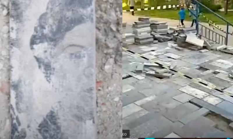 Лестница из покойников: владельцы пункта Оzon в Коми решили сэкономить на отделке