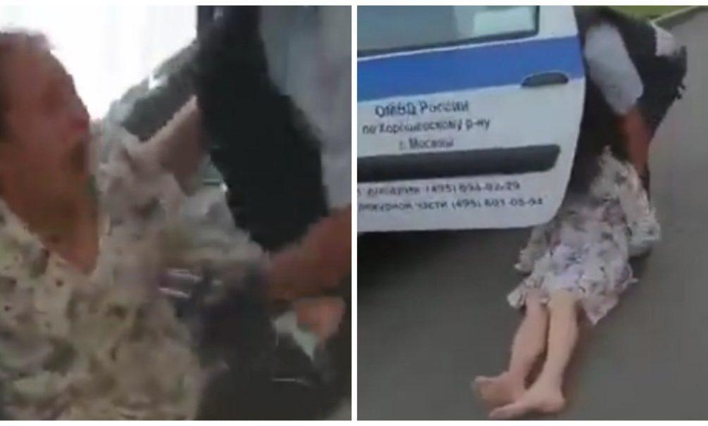 Женщину в московском МФЦ жестоко скрутили силовики из-за снятой маски. Она упала в обморок