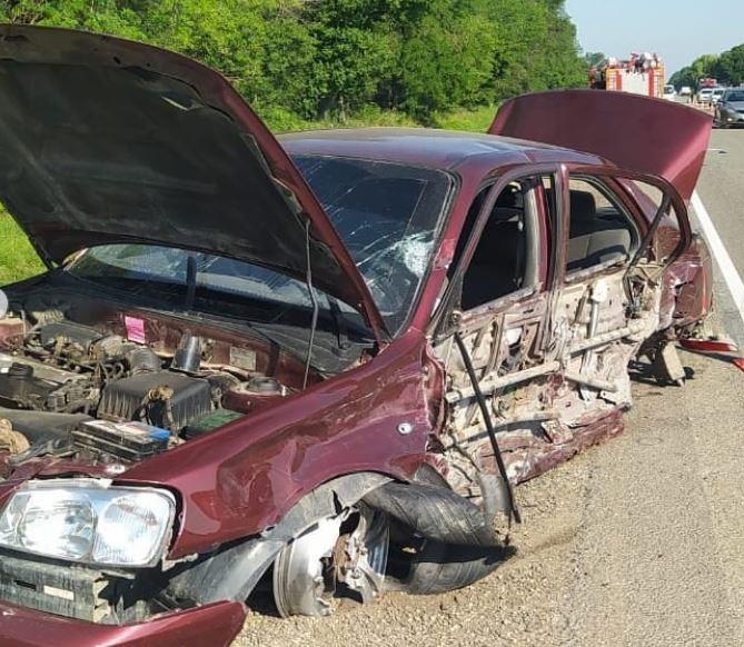 Три автомобиля, пять погибших: опубликовано видео страшного ДТП на Кубани