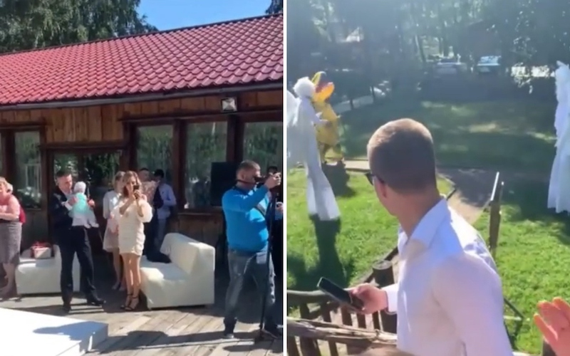 Обалдеть! Необычное «платье» невесты на свадьбе шокировало гостей и жениха