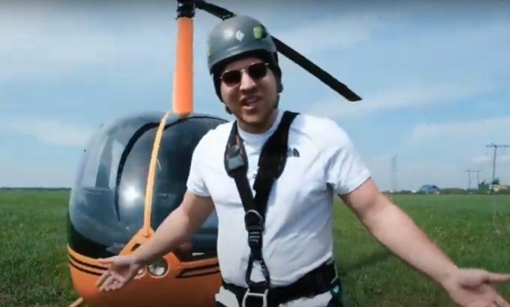 Привязал скотчем к вертолету: блогер, который платил знакомым за риск, теперь имеет дело с СК
