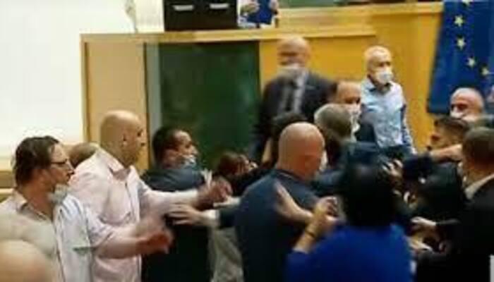 Депутаты парламента Грузии устроили массовую драку из-за ЛГБТ. Теперь они требуют отставки правительства
