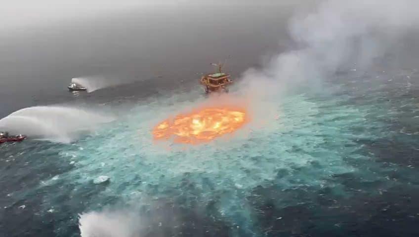 """""""Огненное око"""": невероятный подводный пожар в Мексиканском заливе потушили азотом"""
