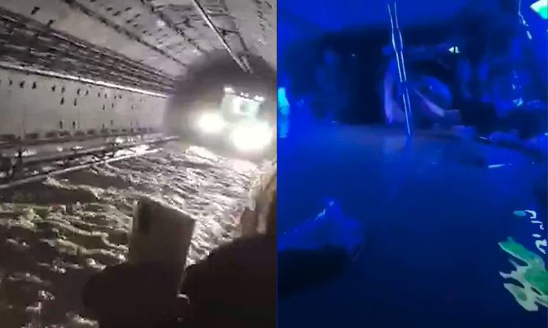 Как в фильме ужасов: в Китае затопило вагон метро с людьми