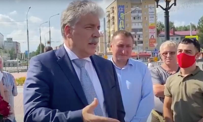 На встречу Павла Грудинина с жителями Йошкар-Олы выслали наряды полиции