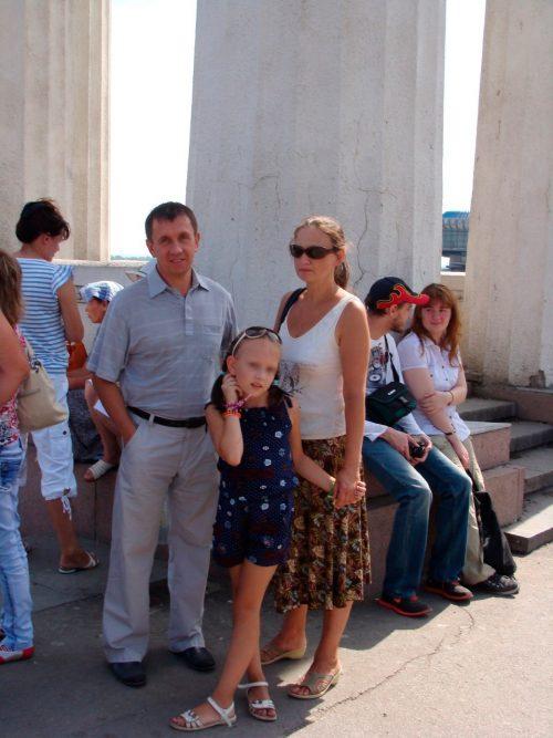 Семья Кучур: Эдуард, его супруга Ирина и дочь Алина