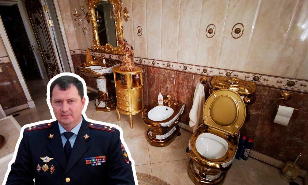 Особняк с золотым унитазом нашли у начальника ГИБДД Ставрополья