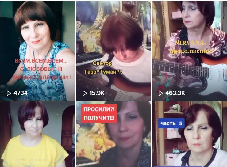 Пенсионерка из Ростовской области покорила TikTok рок-каверами на электрогитаре