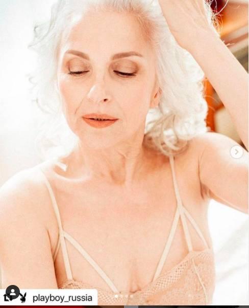 """""""Сексуальное белье носят, когда есть интимная жизнь"""": пожилая модель снялась для Playboy и вызвала споры"""