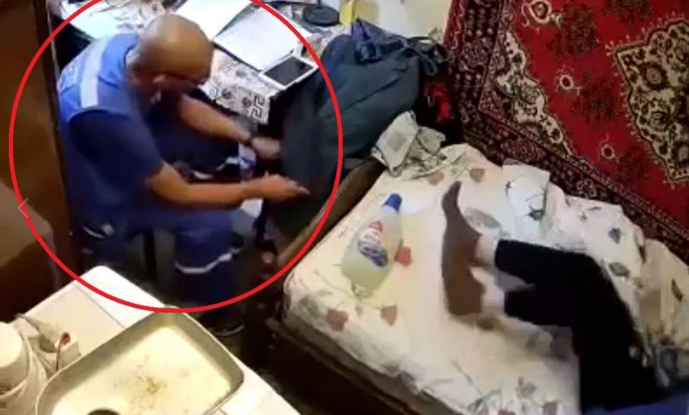 На видео попала попытка ограбить ветерана ВОВ фельдшером «скорой»
