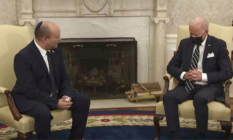 Байден заснул на встрече с израильским премьером