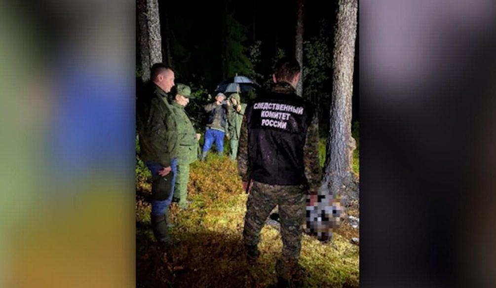 В лесу под Петербургом нашли останки женщины и ребенка