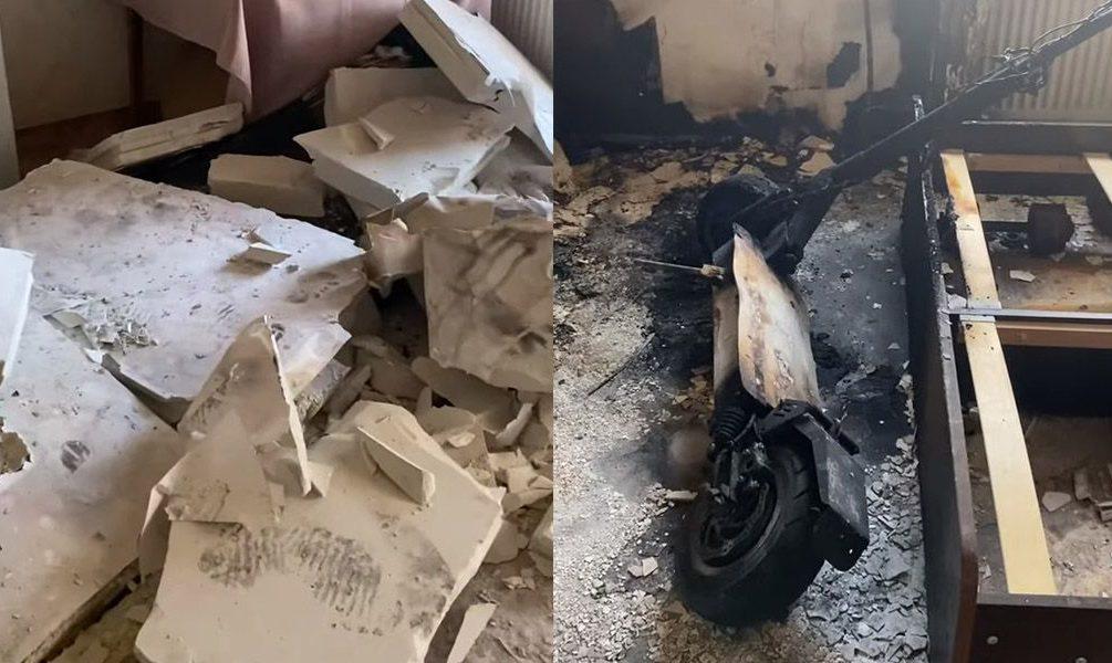 Взорвавшийся электросамокат разнес квартиру в Перми