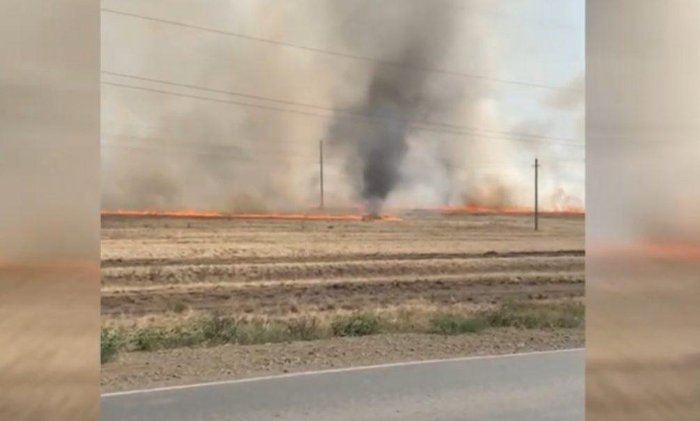 Огненный смерч сняли на видео очевидцы в Башкирии