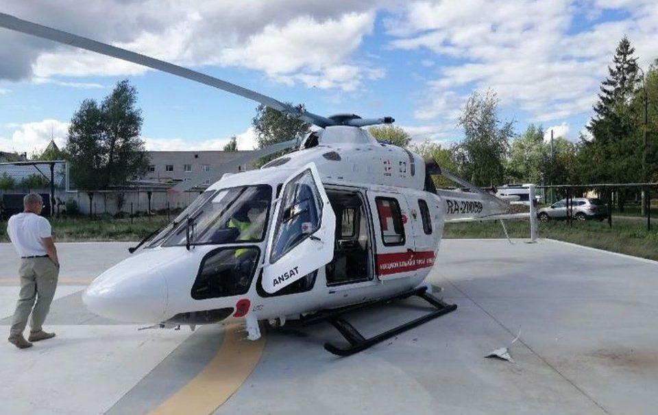 Оторвалась лопасть: в Иваново вертолет санавиации совершил жесткую посадку
