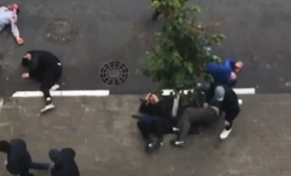 Видео массовой драки между фанатами «Спартака» и «Зенита» появилось в Сети