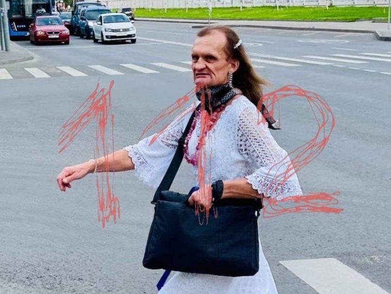 В московском «Магните» неадекватный трансвестит Дмитрий-Диана напал на покупателей с топором
