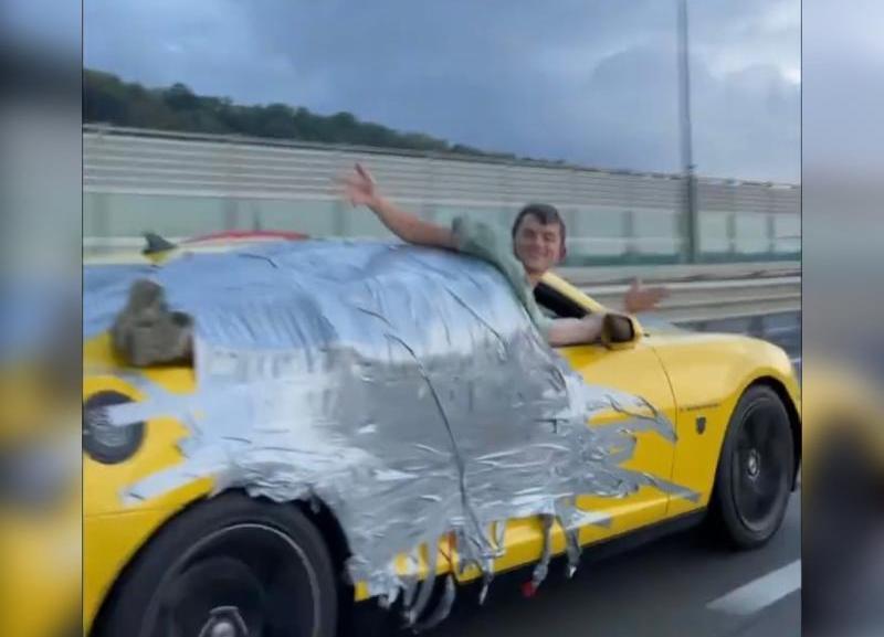 В Сочи арестовали водителя, который возил на авто примотанного скотчем блогером