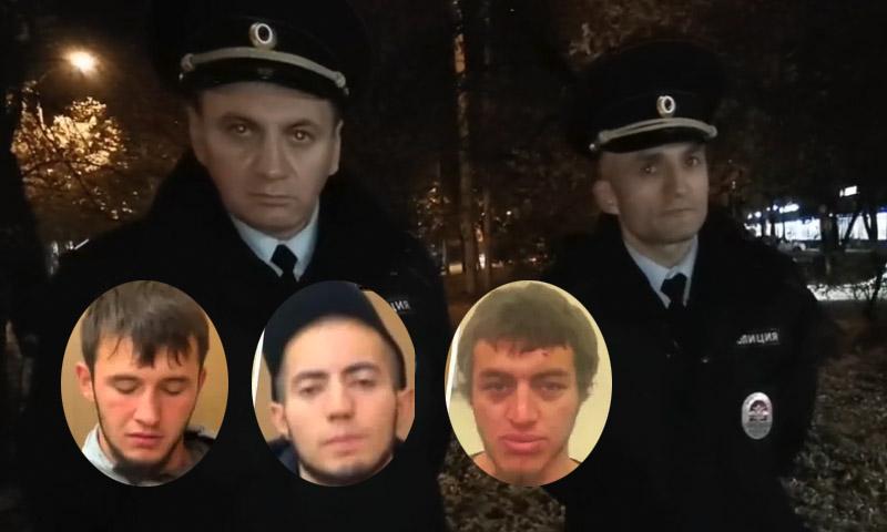 Буянили в отделе: полицейские рассказали о задержании трех дагестанцев, избивших москвича в метро
