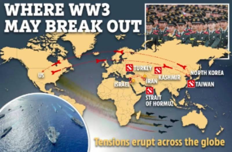 Третья мировая: The Sun определила восемь потенциальных мест, где может начаться война с неожиданным поворотом